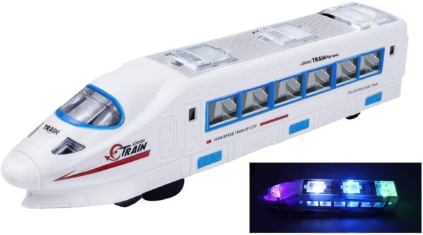 Electric Bullet Train Toy with Sound and Flashing Lights