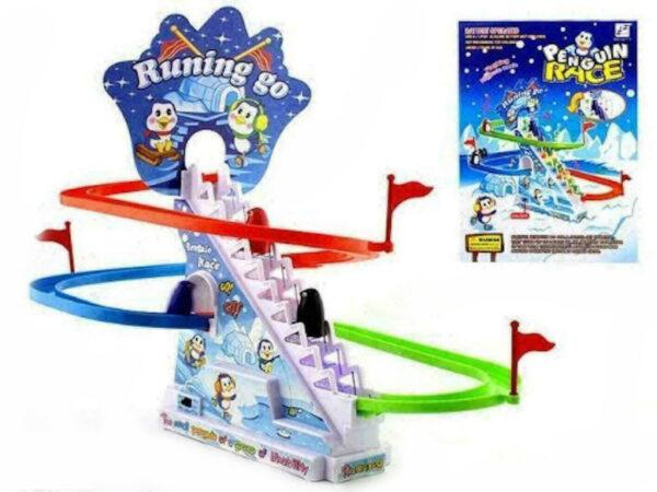 penguine slide race toys